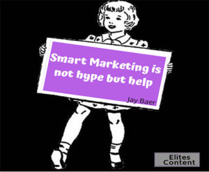 Marketing is help not hype